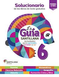 libro texto matematicas sexto grado ciclo 2015 2016 solucionariosantillana6â 2015 2016