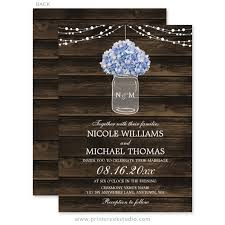 jar wedding invitations rustic hydrangea jar barn wood wedding invitations print