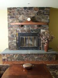 creative adding a mantel to a stone fireplace home design very