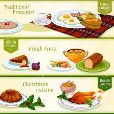 britische küche britische küche frühstück und weihnachtsessen ü banner mit