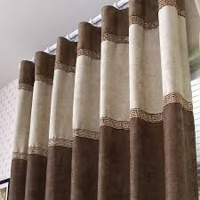 Brown Blackout Curtains Contemporary Blackout And Sound Absorption Brown Curtains Buy