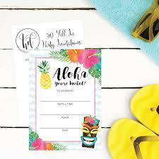 Family Reunion Invitation Cards Amazon Com 50 Hawaiian Luau Summer Swim Pool Party Invitations