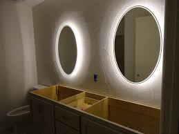 lights wall mounted illuminated magnifying mirror bathroom led
