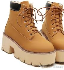 light brown combat boots fashion add plush combat boots winter boots black leather thick sole