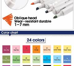 sta 12 24 36 60colors artist copic sketch marker alcohol based