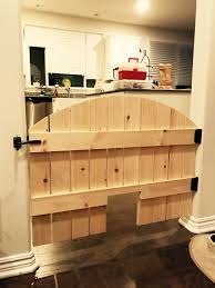 Reclaimed Wood Barn Doors by Pet Security Gate Barn Door Baby Gate Made To Fit Rustic