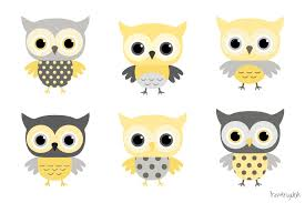 baby shower owls baby boy owls clipart yellow and grey owl clip set baby