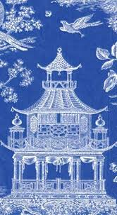 chinoiserie wrapping paper chinoiserie toile blue gift wrap