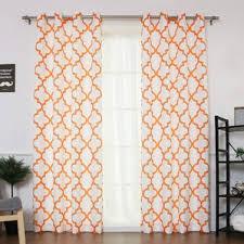 Kitchen Kitchen Curtain Sets Standard by Orange Curtains U0026 Drapes You U0027ll Love Wayfair