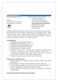 Accounts Receivable Job Description Resume by Charlito Estalilla Resume 2016