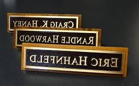 Desk Name Plates Wood Traditional Desk Name Plates Personalized Office Regarding