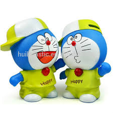 Customized Piggy Bank Custom Make Design Doraemon Kids Plastic Piggy Banks Customized