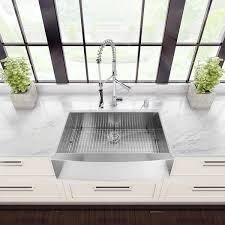 All In One Kitchen Sink And Cabinet by Vigo All In One 36 U201d Camden Stainless Steel Farmhouse Kitchen Sink