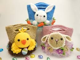 easter bags easter treat bags bunny and amigurumi crochet