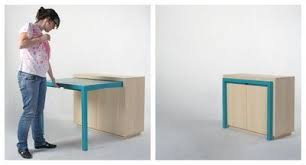 cabinet with pull out table built in table clever desks and spaces