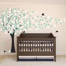 Wall Stickers Trees Nursery Cherry Blossom Tree Wall Sticker Decal Childrens Kids