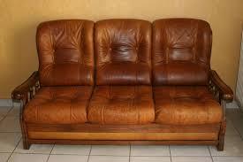 canape cuir et bois achetez salon cuir et bois occasion annonce vente à grenoble 38