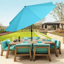 Patio Umbrella Table And Chairs by Pure Garden 10 U0027 Aluminum Patio Umbrella With Auto Tilt Walmart Com
