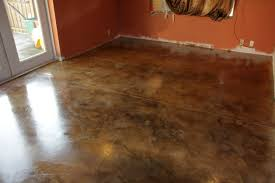 flooring stained concrete floors in basement how totain indoors