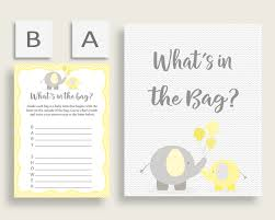 what s in the bag baby shower what s in the bag baby shower what s in the bag yellow baby shower