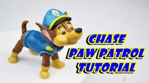 chase paw patrol cake topper fondant tutorial cane pasta