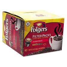folgers classic roast medium coffee filter packs 10ct walmart com