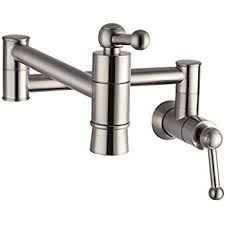 wall mounted kitchen faucets sarlai s0005f stainless steel pot filler brushed nickel wall mount