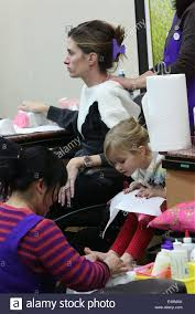 rhea durham takes her daughter to get a pedicure and manicure at