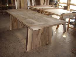 black walnut dining table integrity woodworks base though cleats