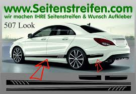mercedes decal amg 507 replica sticker decal side stripe complete set