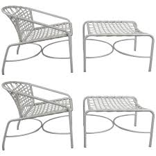 1960s Patio Furniture Pair Of Vintage 1960s Kantan Lounge Chairs And Ottomans By Tadao
