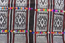 Colorful Aztec Rug 6x7 Square Rug Black And White Color Aztec Patterned Turkish