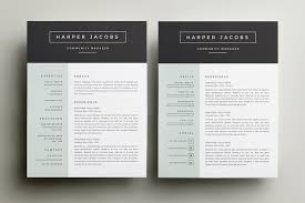 Two Page Resume Sample by 10 Great Minimal Design Cv Designs