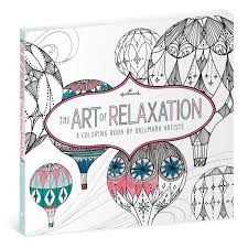 coloring pages of presents the art of relaxation u2014a coloring book by hallmark artists