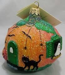 breen pumpkin cottage orange gumps ornament