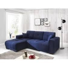 canapé bleu marine bobochic canape d angle lisbona fixe gauche bleu marine achat