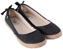 ugg womens indah shoes black ugg australia ugg australia indah black canvas espadrille flat shoe