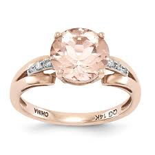 morganite gold engagement ring 14k gold diamond and morganite ring unclaimed diamonds