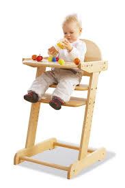 chaise haute en bois b b haute bebe bois