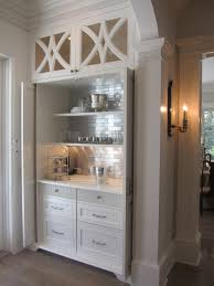 Shaker Style Exterior Doors by Beautiful Custom Dry Bar Area With Recessed Pocket Doors Inset