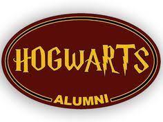 hogwarts alumni bumper sticker magnetic sticker on hp sticker vehicle magnetic stickers
