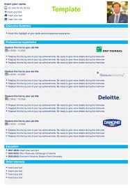 Deloitte Consulting Resume Downloadable Cv Resume Templates