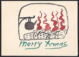 handmade christmas cards sent by famous artists to their friends