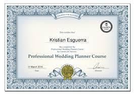 Wedding Planner Courses The Professional Wedding Planning Course Certificate Kristian Esgue U2026