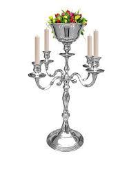 Vase Holders Amazon Com 5 Arm Silver Candelabra With Flower Vase Holders Taper