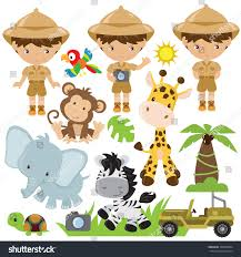safari jeep clipart safari animals vector illustration stock vector 356638004