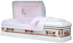 pink casket primrose white shade with silver finish virginia casket store