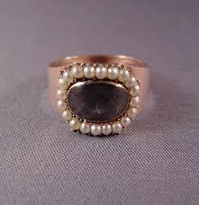 mourning ring georgian 9k pearl hair mourning ring 1802 morning jewelry