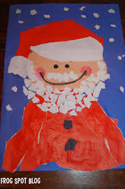 torn paper santa zero prep art for kids frog spot