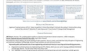 recruiter resume sample entry level petro chemical executive